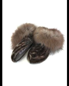 Hjemmesko af sæl med tundraræv