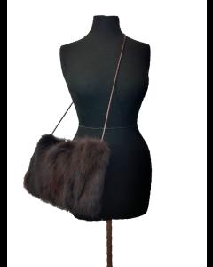 Taske i ræv (farvet mørk)